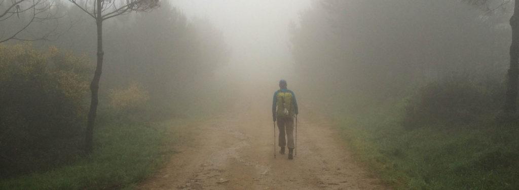 Ein Wanderer im Nebel