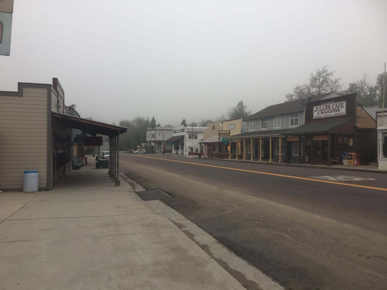 Blick auf die Stadt Julien, CA